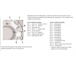 VDO ViewLine Toerenteller 10.000 RPM Wit 85mm