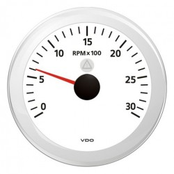 VDO ViewLine Tachometer 3.000 RPM White 85mm