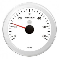 VDO ViewLine Tachometer 6.000 RPM White 85mm