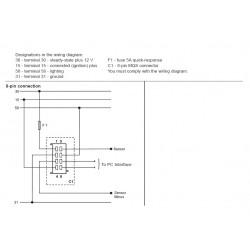 VDO ViewLine Tachometer 3.000 RPM White 85mm