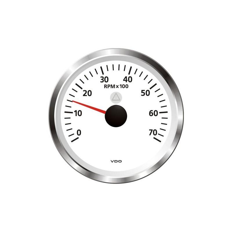 VDO ViewLine Tachometer 7.000 RPM White 85mm
