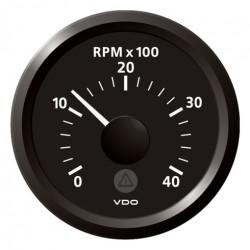 VDO ViewLine Toerenteller 4.000 RPM Zwart 52mm