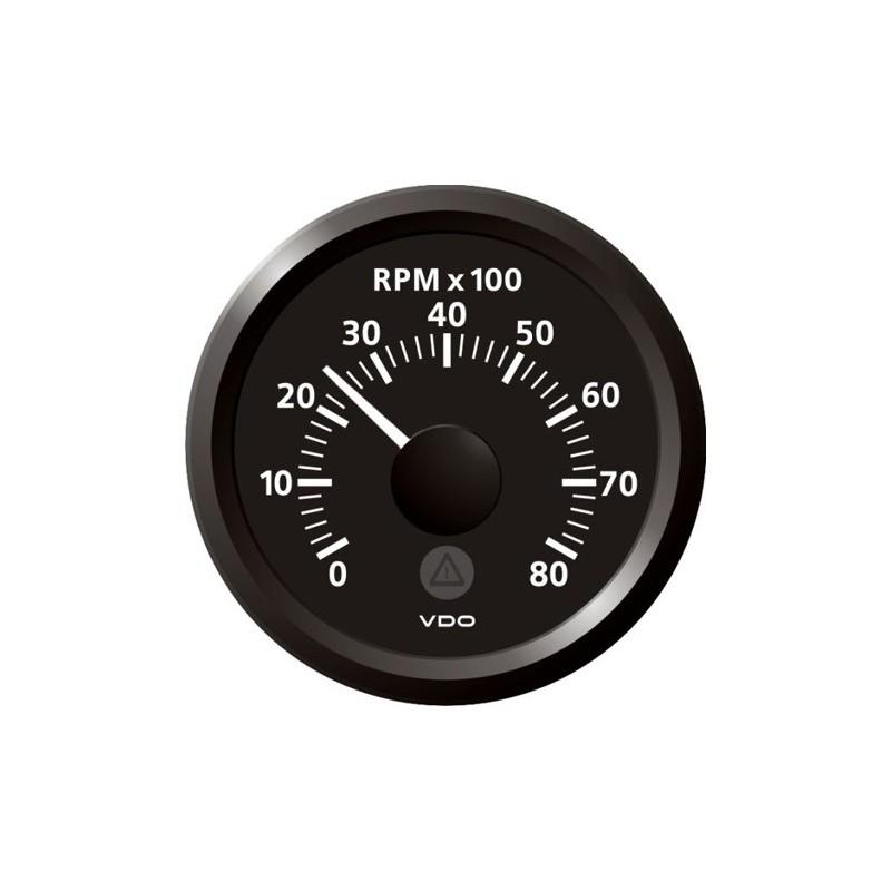 VDO ViewLine Drehzahlmesser 8.000 RPM Schwarz 52mm