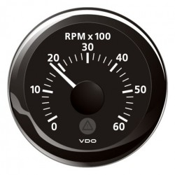 VDO ViewLine Tachometer 6.000 RPM Black 52mm