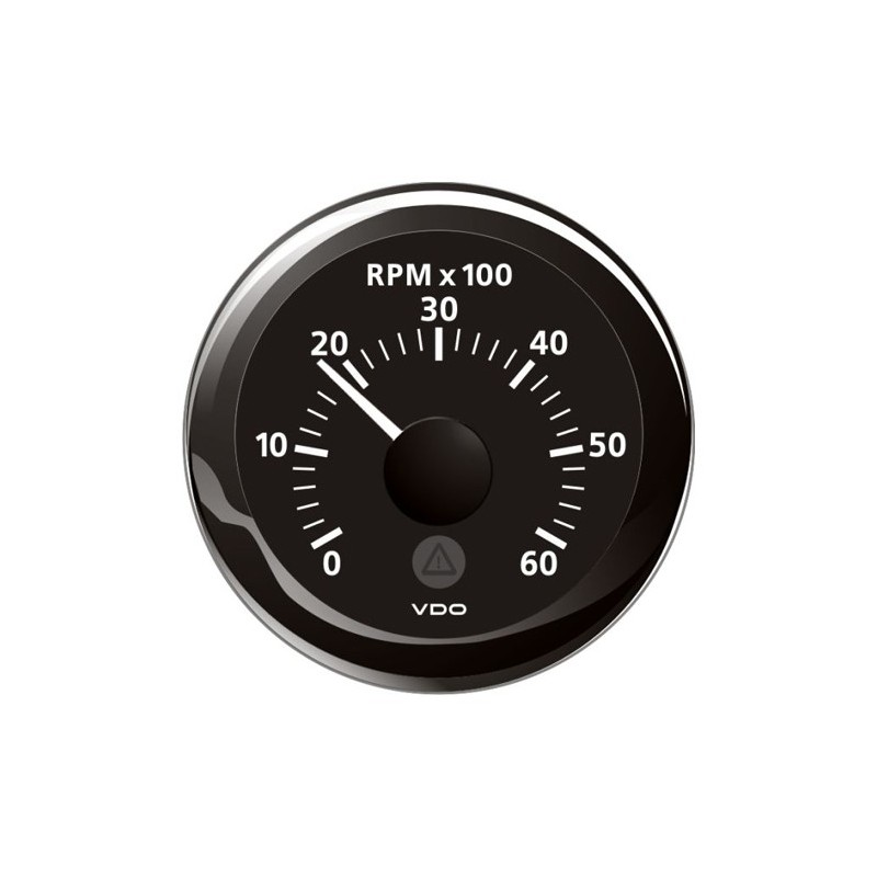 VDO ViewLine Tachometer 6.000 RPM Black 52mm