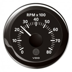 VDO ViewLine Tachometer 8.000 RPM Black 52mm