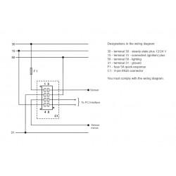 VDO ViewLine Tachometer 8.000 RPM Black 52mm
