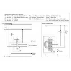 VDO ViewLine Tachometer 2.500 RPM Black 85mm