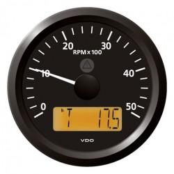 VDO ViewLine Drehzahlmesser 5.000 RPM Schwarz 85mm