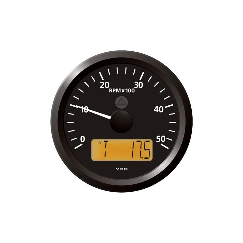 VDO ViewLine Toerenteller 5.000 RPM Zwart 85mm