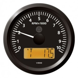 VDO ViewLine Toerenteller 10.000 RPM Zwart 85mm