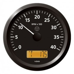 VDO ViewLine Tachometer 4.000 RPM Black 110mm