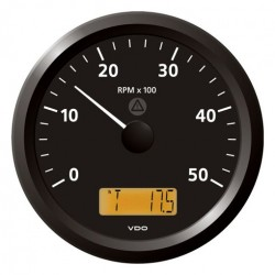VDO ViewLine Tachometer 5.000 RPM Black 110mm