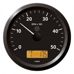 VDO ViewLine Toerenteller 5.000 RPM Zwart 110mm