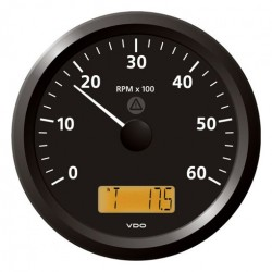 VDO ViewLine Tachometer 6.000 RPM Black 110mm