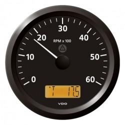 VDO ViewLine Toerenteller 6.000 RPM Zwart 110mm