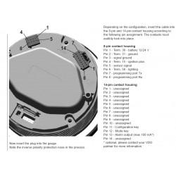 VDO ViewLine Drehzahlmesser 6.000 RPM Schwarz 110mm