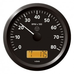 VDO ViewLine Tachometer 8.000 RPM Black 110mm