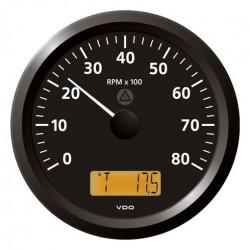VDO ViewLine Toerenteller 8.000 RPM Zwart 110mm