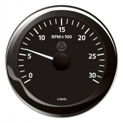 VDO ViewLine Tachometer 3.000 RPM Black 85mm