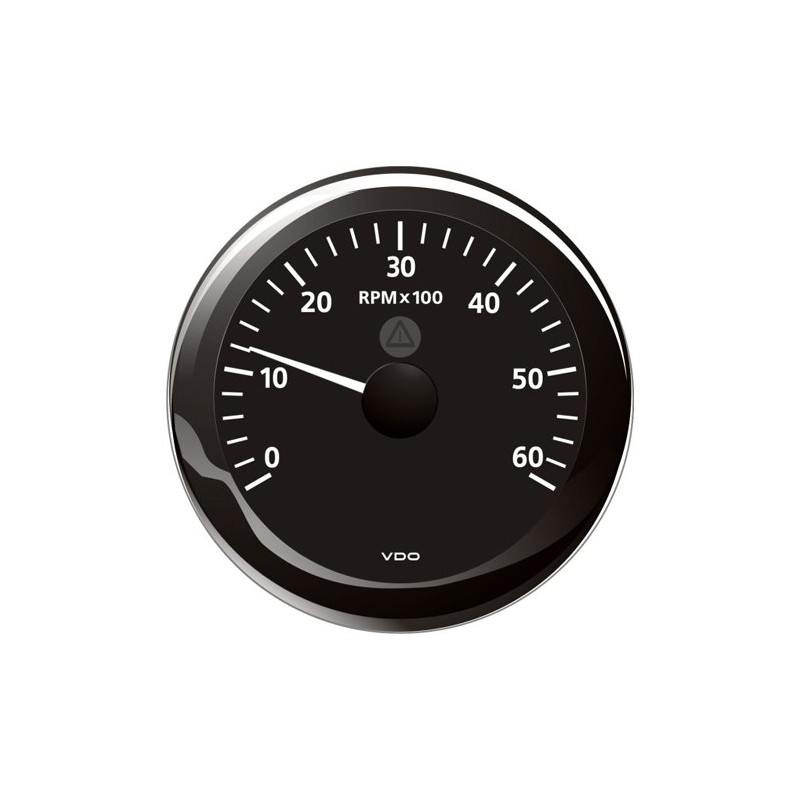 VDO ViewLine Toerenteller 6.000 RPM Zwart 85mm