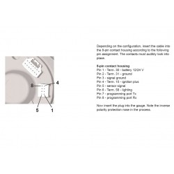 VDO ViewLine Tachometer 6.000 RPM Black 85mm