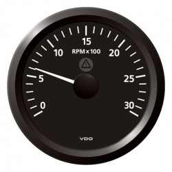 VDO ViewLine Toerenteller 3.000 RPM Zwart 85mm