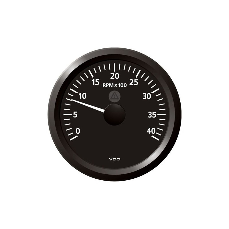 VDO ViewLine Tachometer 4.000 RPM Black 85mm