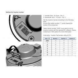 VDO ViewLine Toerenteller 7.000 RPM Zwart 85mm