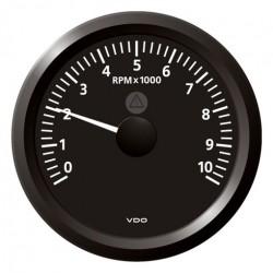 VDO ViewLine Tachometer 10.000 RPM Black 85mm