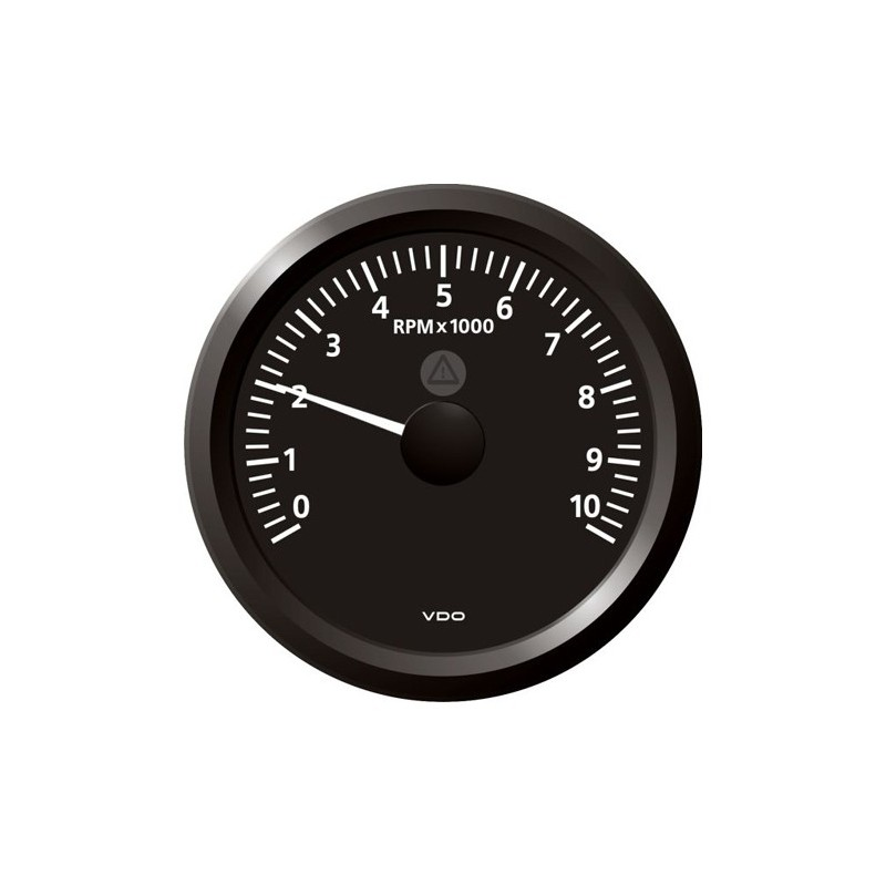 Vdo Viewline Tachometer 10 000 Rpm Black 85mm