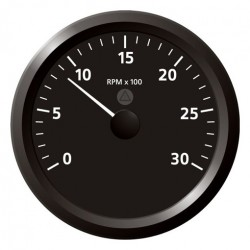 VDO ViewLine Tachometer 3.000 RPM Black 110mm