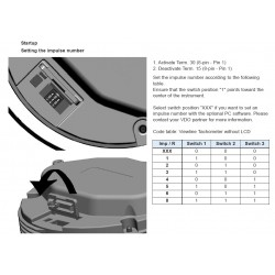 VDO ViewLine Tachometer 3.000 RPM Black 110mm