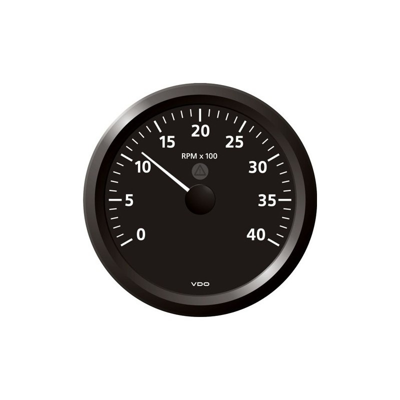VDO ViewLine Tachometer 4.000 RPM Black 110mm