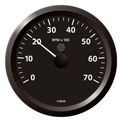 VDO ViewLine Tachometer 7.000 RPM Black 110mm