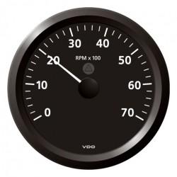 VDO ViewLine Toerenteller 7.000 RPM Zwart 110mm