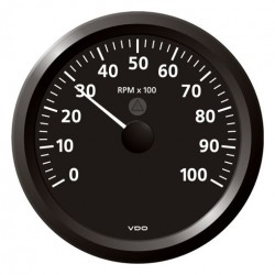 VDO ViewLine Toerenteller 10.000 RPM Zwart 110mm