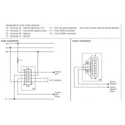 VDO ViewLine Drehzahlsynchro Anzeiger Schwarz 85mm
