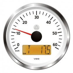 VDO ViewLine Speedometer 60 Mph White 85mm