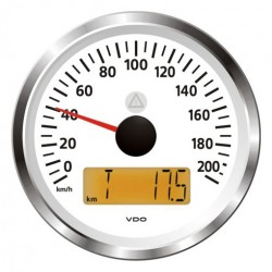 VDO ViewLine Speedometer 200 Km/h White 85mm