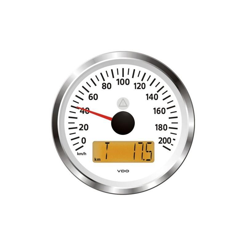 VDO ViewLine Snelheidsmeter 200 Km/h Wit 85mm