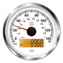 VDO ViewLine Speedometer 140 Mph White 85mm