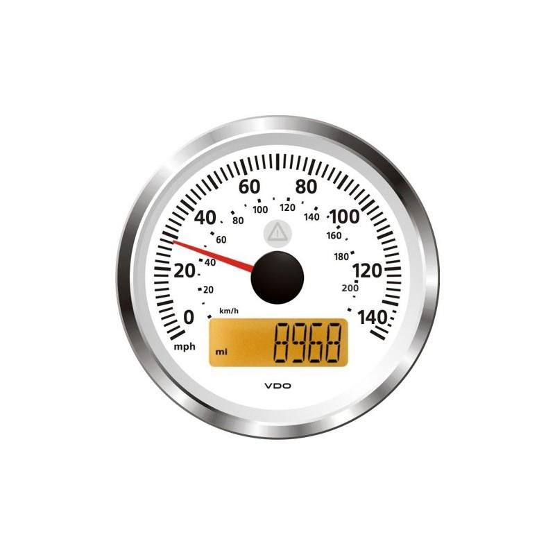 VDO ViewLine Snelheidsmeter 140 Mph Wit 85mm