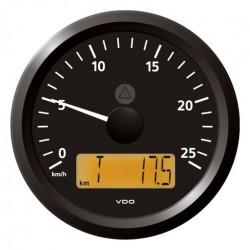 VDO ViewLine Geschwindigkeitsmesser 25 Km/h Schwarz 85mm