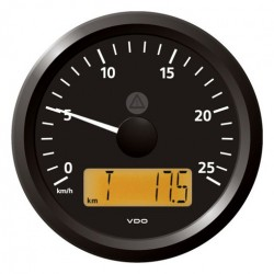 VDO ViewLine Speedometer 25 Km/h Black 85mm