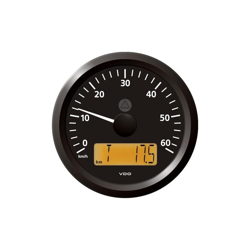 VDO ViewLine Snelheidsmeter 60 Km/h Zwart 85mm