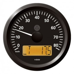 VDO ViewLine Speedometer 80 Km/h Black 85mm