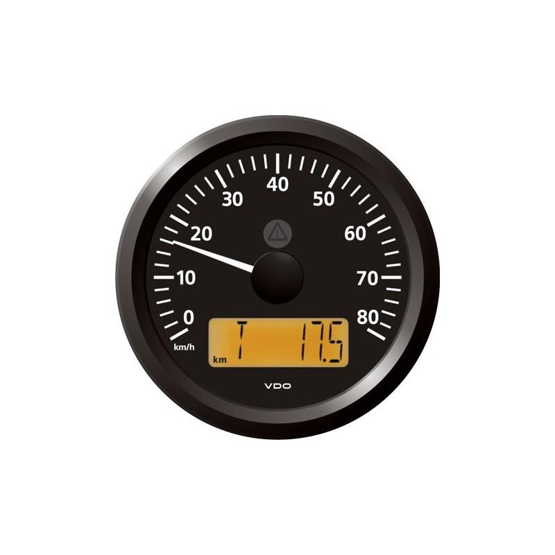 VDO ViewLine Snelheidsmeter 80 Km/h Zwart 85mm