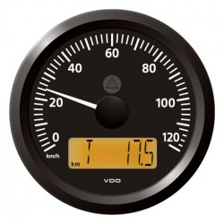 VDO ViewLine Speedometer 120 Km/h Black 85mm
