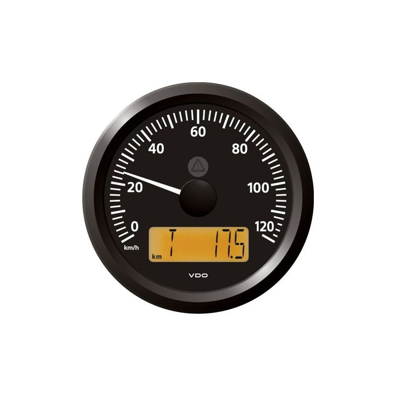 VDO ViewLine Snelheidsmeter 120 Km/h Zwart 85mm